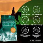 BulkHorse Sulfate de glucosamine 2KCl | Qualité Premium 100% sulfate de glucosamine Pur | Dosage Efficace et entièrement Exempt de sucres ajoutés | 1000 grammes