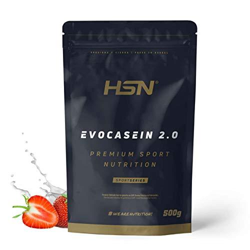 Caséine Micellaire de HSN – Evocasein 2.0 – Protéine pour Avant Dormir – Libération Prolongée pendant le soir – En Poudre – Saveur Fraise – 500g