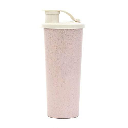 HUANGDANSEN Protein Shaker Whey Protein Shake Bottle Water Bottle Wheat Straw Without Bpa Sports Shaker Milkshake Protein Bottle 450 ML
