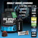 Biotech USA Iso Whey Zero (1 x 2,27 kg) + Shaker + 5 échantillons (baie brune)