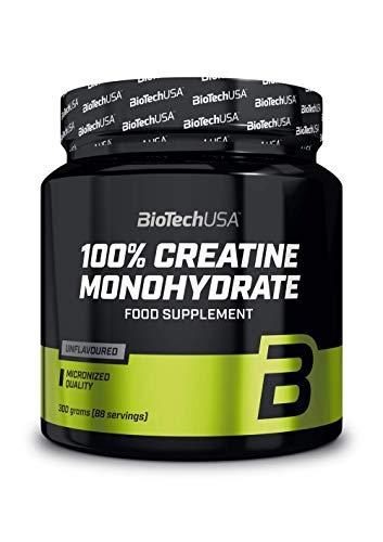 100% Creatine Monohydrate Poudre de creatine monohydrate de qualite pharmaceutique, sans saveur, 300 g
