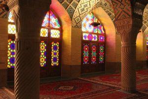 Nasir al-Molk - rožnata mošeja Shiraz