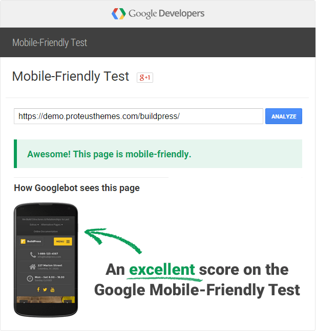 BuildPress is SEO mobile friendly