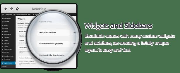 Widget and sidebars