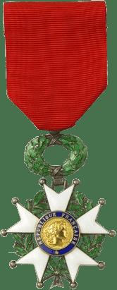 Condecoración con la que se distingue a un Caballero de la Legión de Honor.