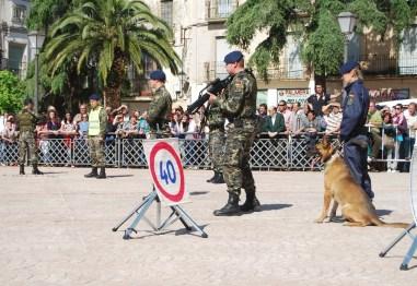 LA Guardia Real Española está especialmente preparada para controlar los accesos con presencia de autoridades y público numeroso.
