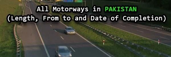 Motorways in Pakistan