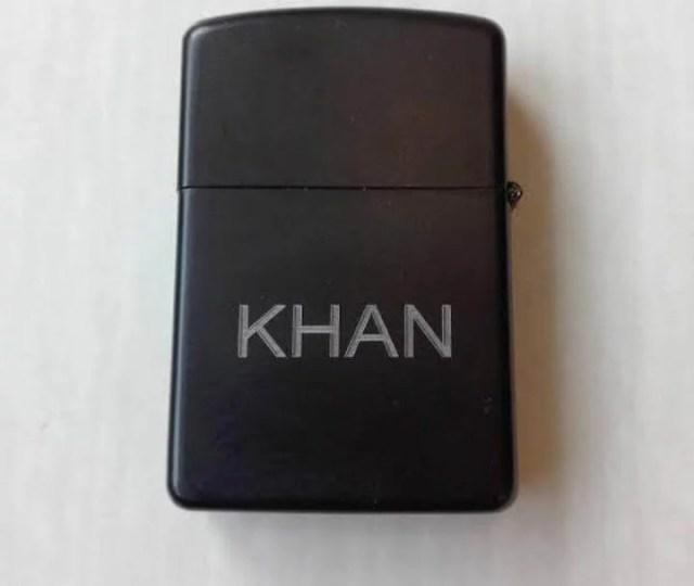 Customized Engraved Black Lighter