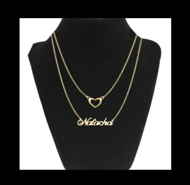Customized Double Chain Name Necklace