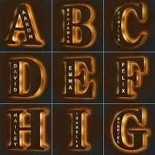 Customized Alphabet Led Lamp