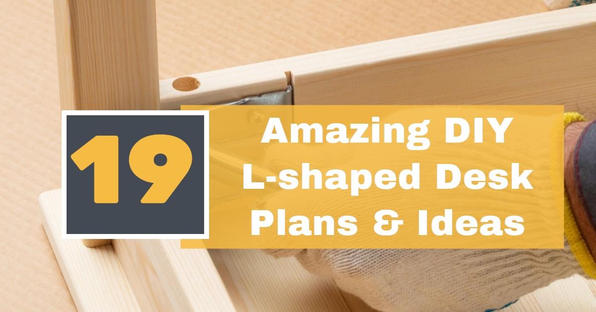 19 amazing diy l shaped desk plans