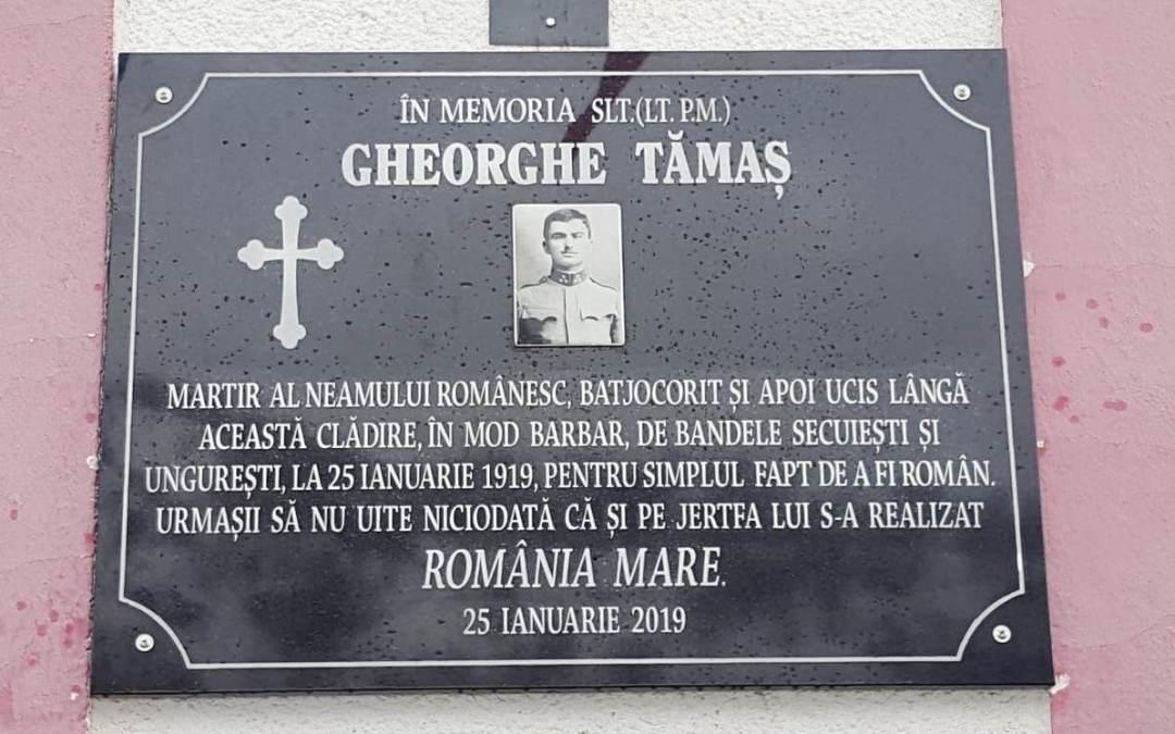 Eroul Ghe. Tămaș, omagiat la Poieni
