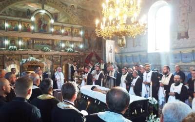 Înmormântarea părintelui Aurel Şaitiş