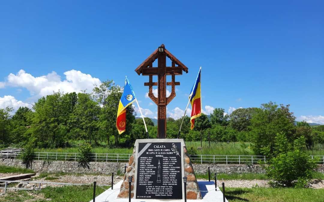 Sfințirea monumentului eroilor din Călata