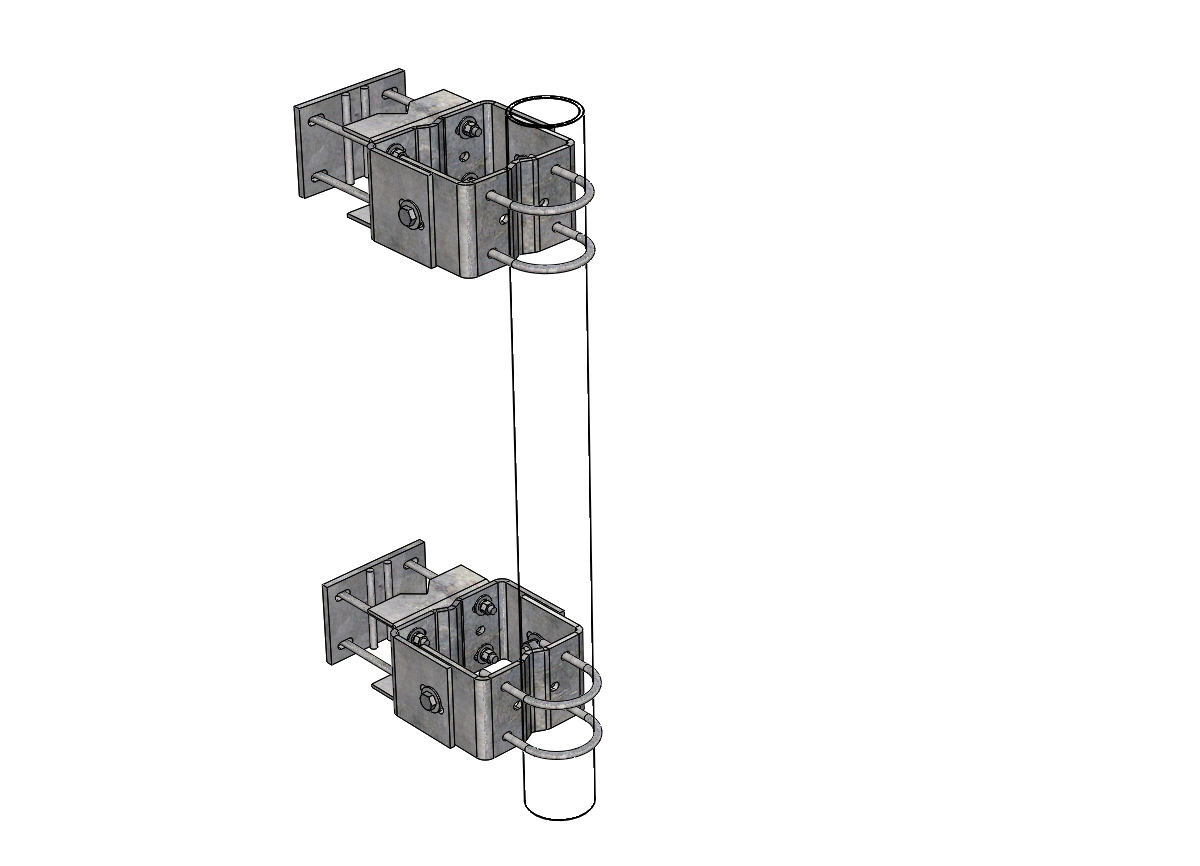 Adjustable Pipe Mounts For Microwave Towers
