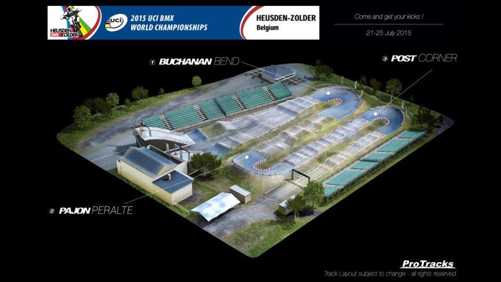 Plan 3D de la piste de Zolder 2015