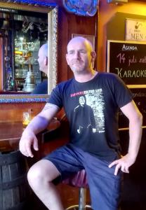 Eric met Feyenoord T-shirt Supporter for life