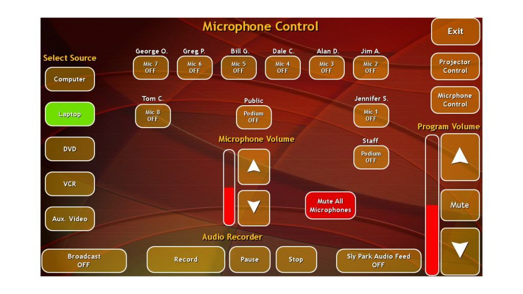 _EID Boardroom Touch Panel - Main