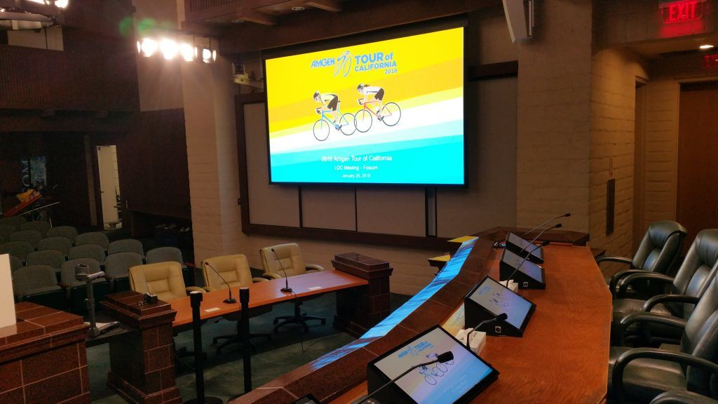 Council Chambers AV Presetaion System- Proud Audio Visual
