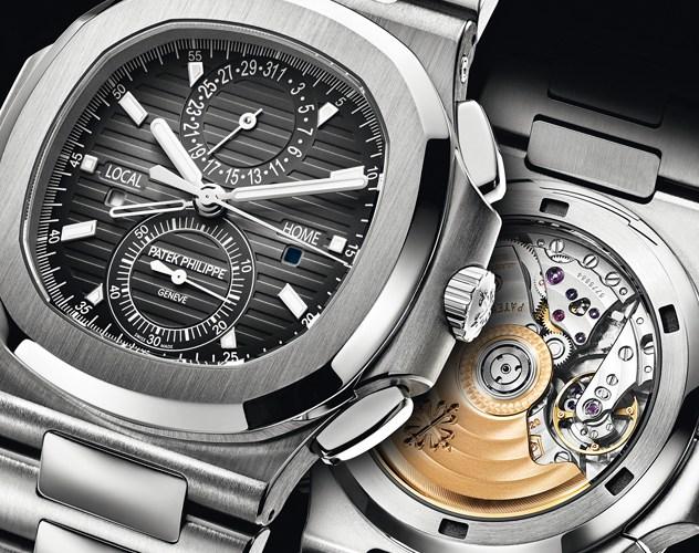 patek philippe chronograph silber nautilus
