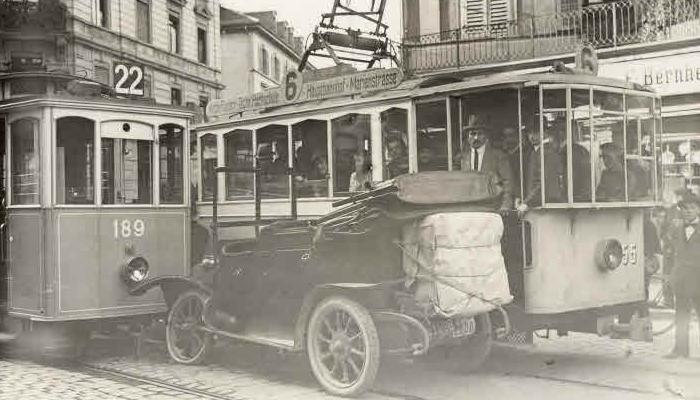 kollision unfall auto tram stadt zürich bilder geschichte