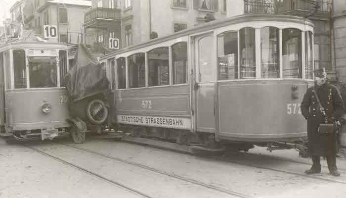 autokollision zürich tramkollision historische unfallbilder