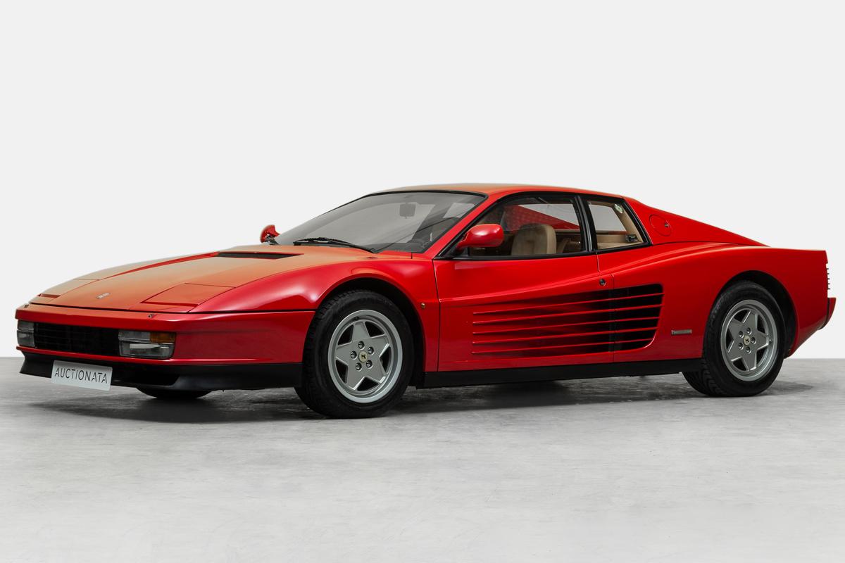 ferrari testarossa versteigerung auktion verkauf schweiz preis sportwagen modelle