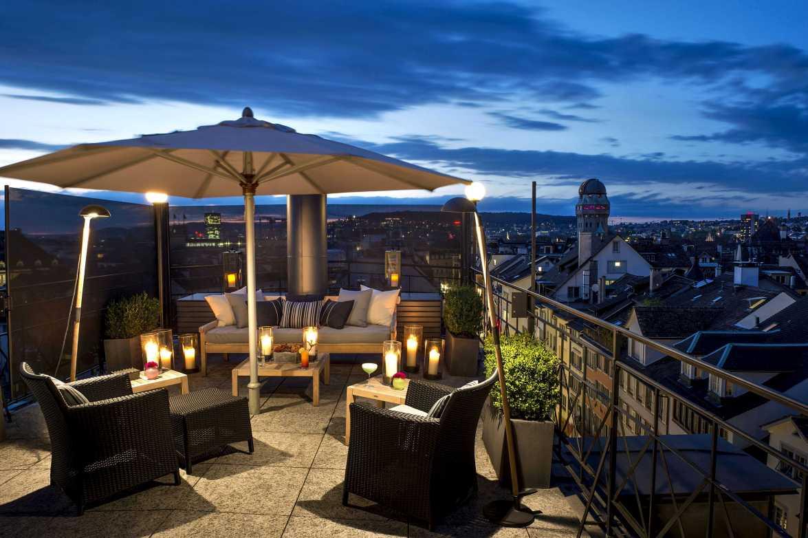 Terrasse der Widder Hotel Penthouse Suite