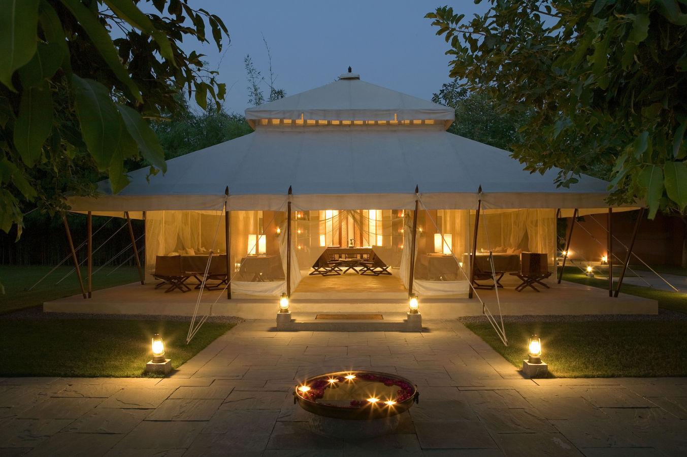 Luxus-Zeltcamp Aman-i-Khás in Indien