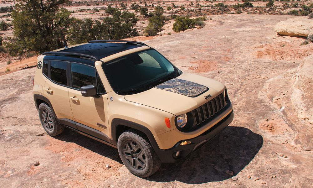 jeep modelle jahrgang 2017 modelljahr modelljahr-2017 4x4 offroad suv geländewagen neuheit neuheiten version modellpalette premium jeep-renegade-desert-hawk