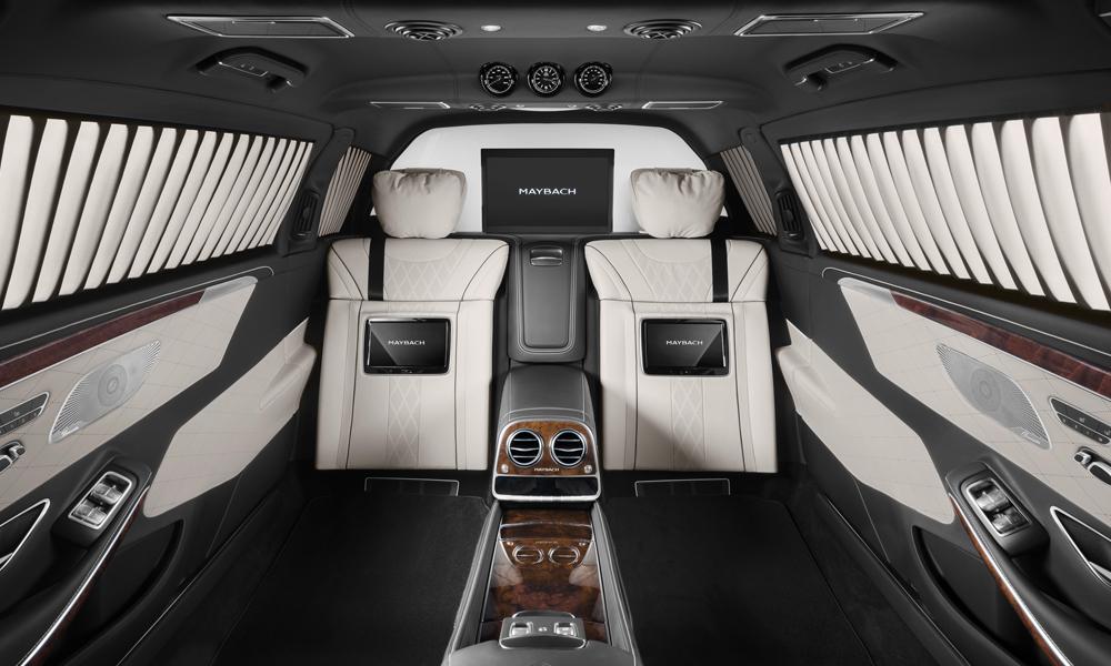 mercedes-benz maybach limousine limousinen panzerlimousine gepanzerte-limousine ausstattung s 600 pullman guard innenraum schutzklasse