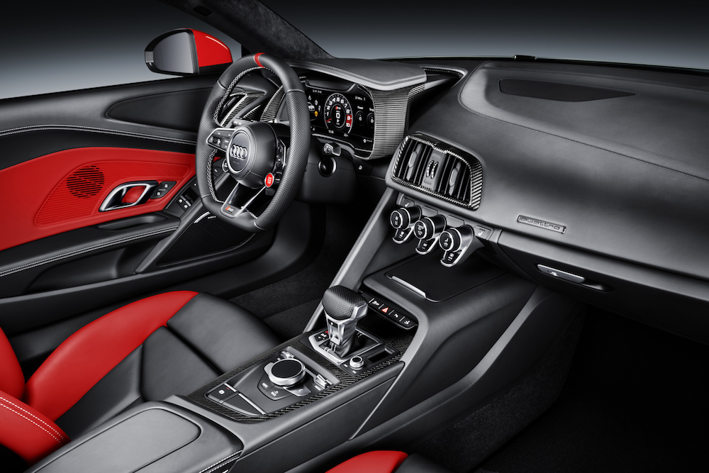 audi r8 coupe edition limitierte modelle sondereditionen innenraum cockpit