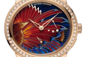 ulysse nardin timepieces woman women watches rose gold enamel diamonds
