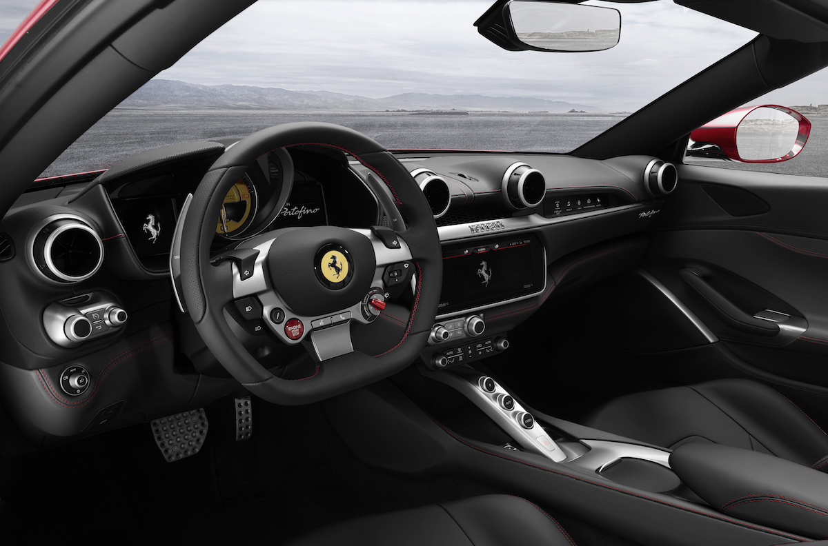 ferrari portofino new car convertible 8-cylinder most powerful hard top cockpit