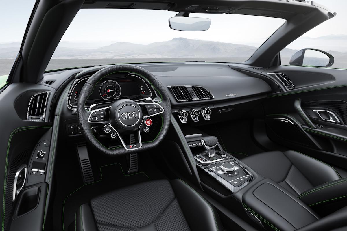audi r8 spyder v10 plus modelle sportwagen v10-mittelmotor individualisierung fahrleistungen allradantrieb carbon cabriolet
