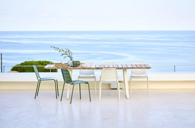 neuheiten möbel gartenmöbel stuhl tisch aluminium farben designer design möbelstück