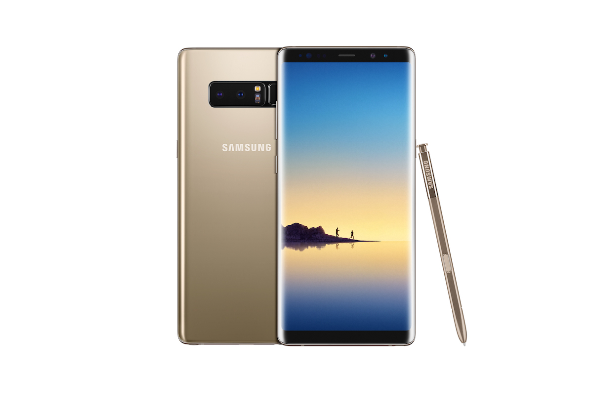 smartphone smartphones samsung galaxy note8 farben display bildschirm gold