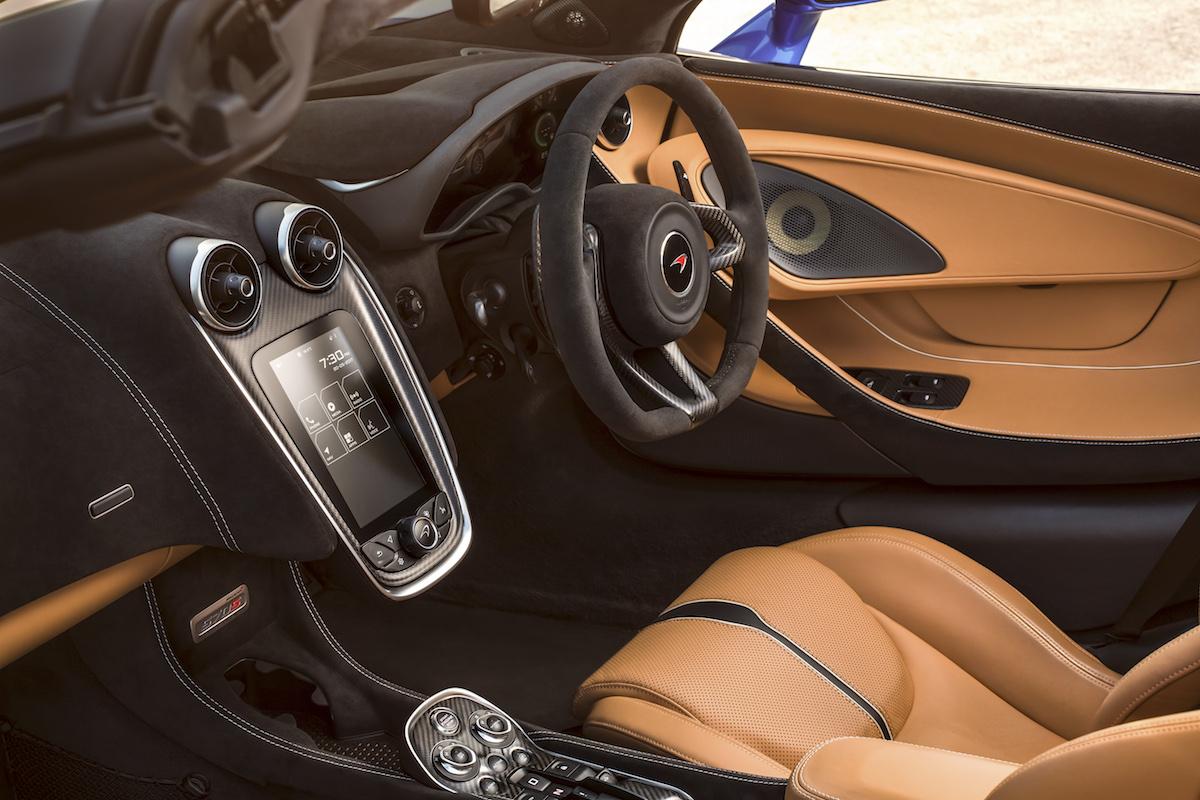 mclaren 570s spider sportwagen supersportwagen modelle modellversionen cabriolet coupe interieur cockpit
