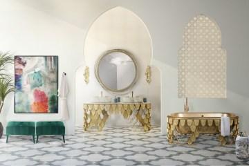 luxury bathroom bathrooms luxurious design high-end modern exclusive washbasins bathtubs brass
