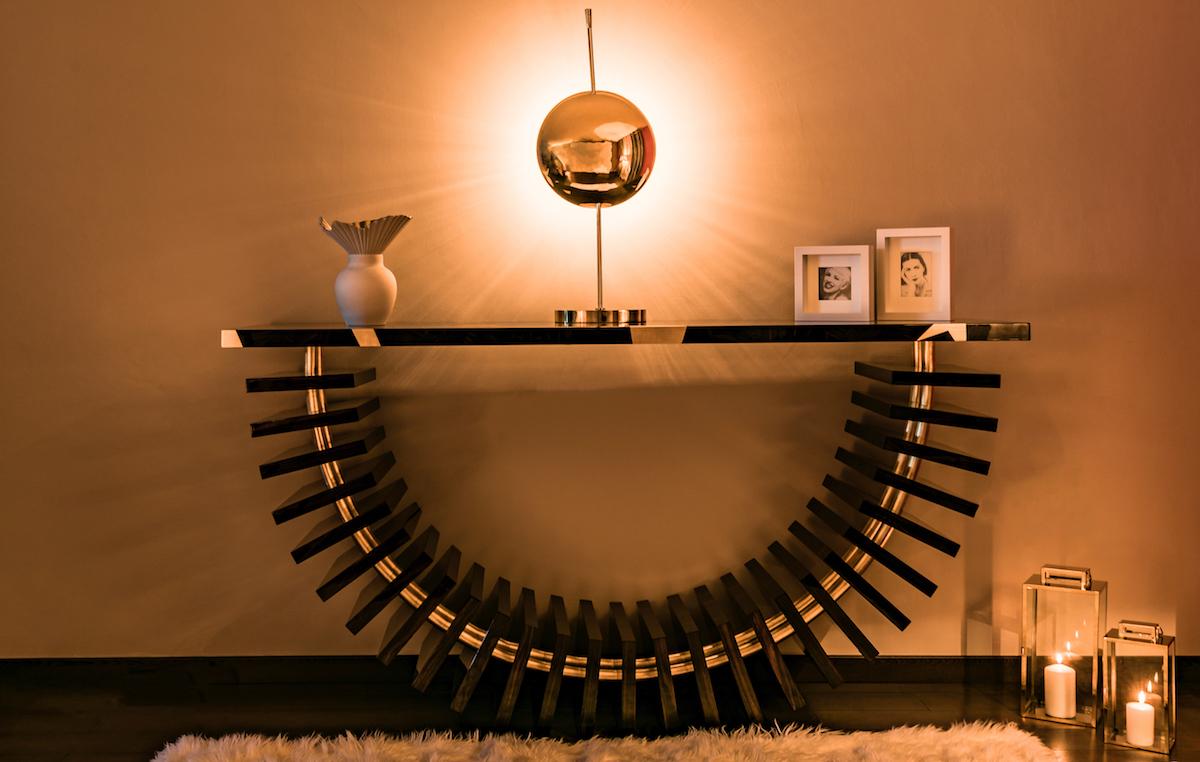 furniture nomadous unique pieces of design art console modern interiors ebony