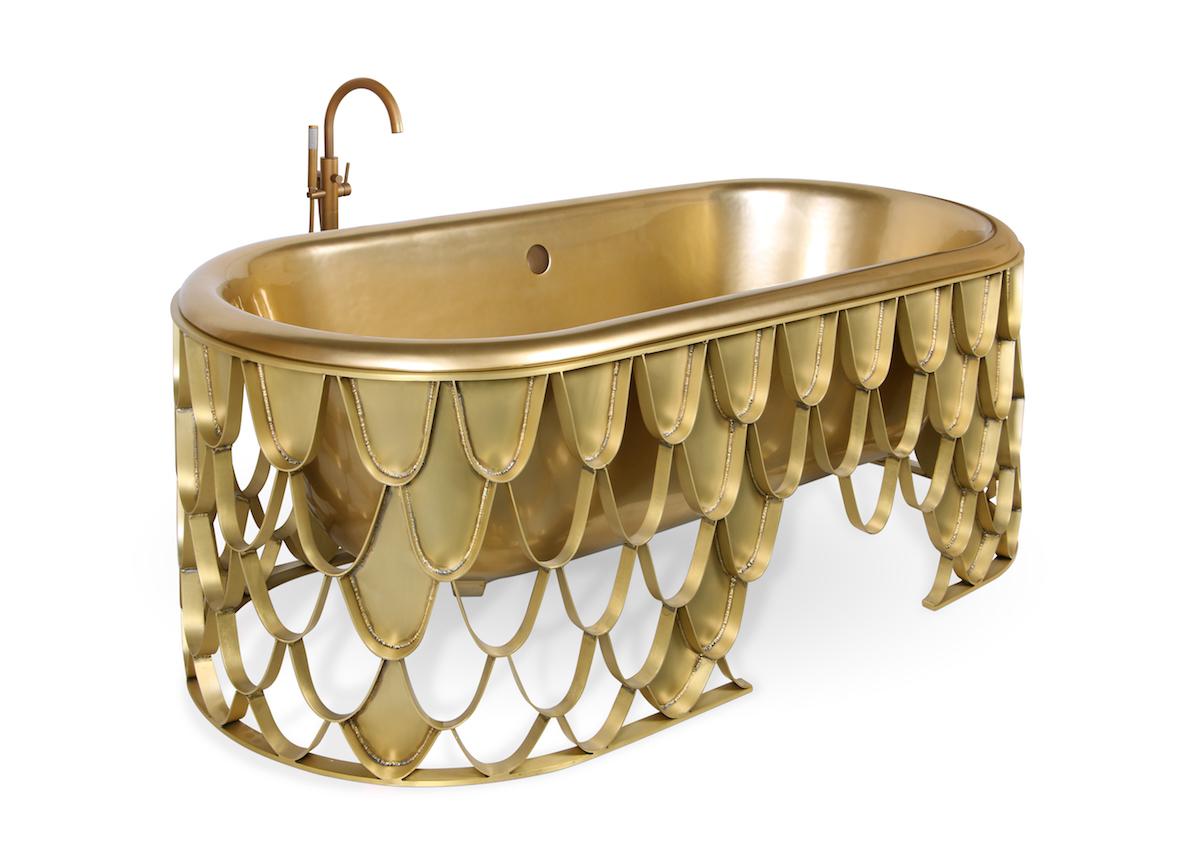 luxury bathroom bathrooms luxurious design high-end modern exclusive washbasins bathtubs brass marble