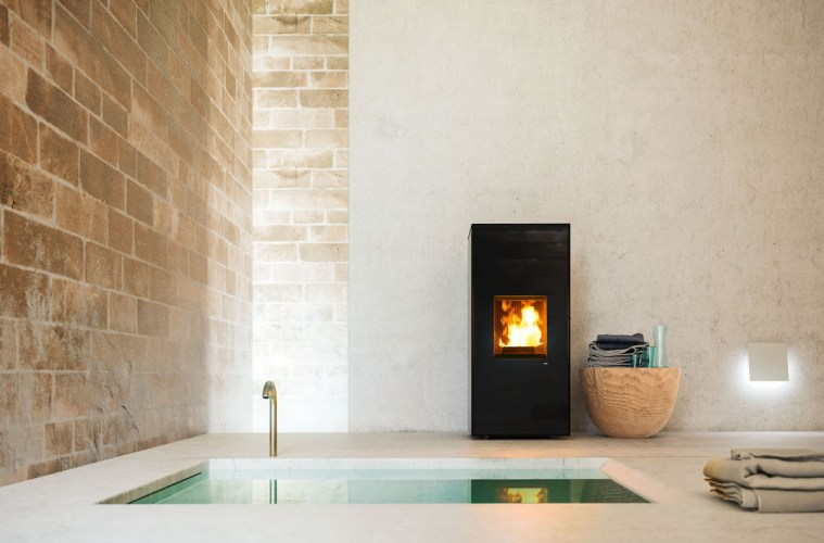 stove pellet design models app remote control smartphone wi-fi tablet interior design home living