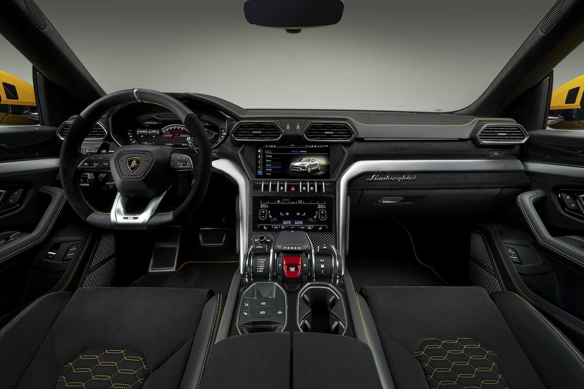 lamborghini urus suv sport utility vehicle offroad first model luxury segment driving interior cockpit cabin