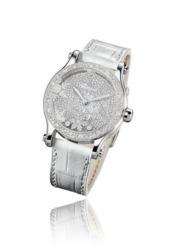 chopard watches watchmodels timepieces women woman lady ladies luxury luxurious collection diamonds alligator leather strap novelties