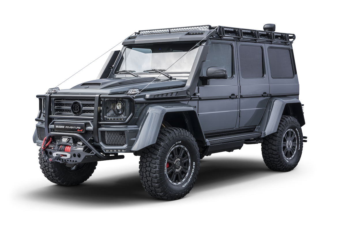 brabus 550 adventure 4x4 suv off-road off-roader extreme mercedes g-class models novelties