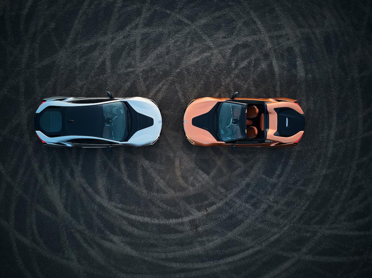 bmw i8 roadster coupe plug-in hybrid electric sports car models car-brands germany german engine