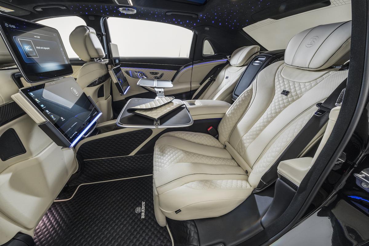 brabus mercedes-maybach mercedes maybach s 650 luxuslimousine modelle neuheiten innenausstattung