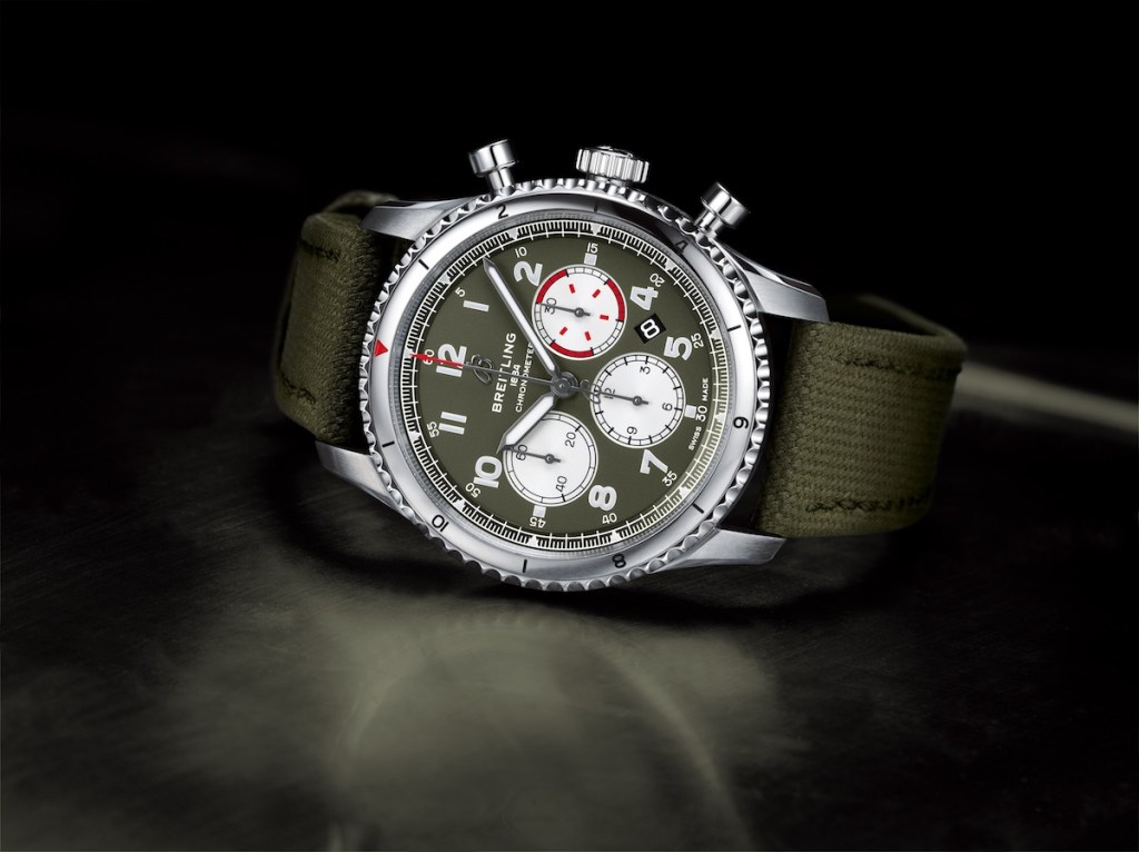 breitling pilot's watch watches new swiss watch manufacturer aviation chronograph chronographs automatic stainless-steel military-watches