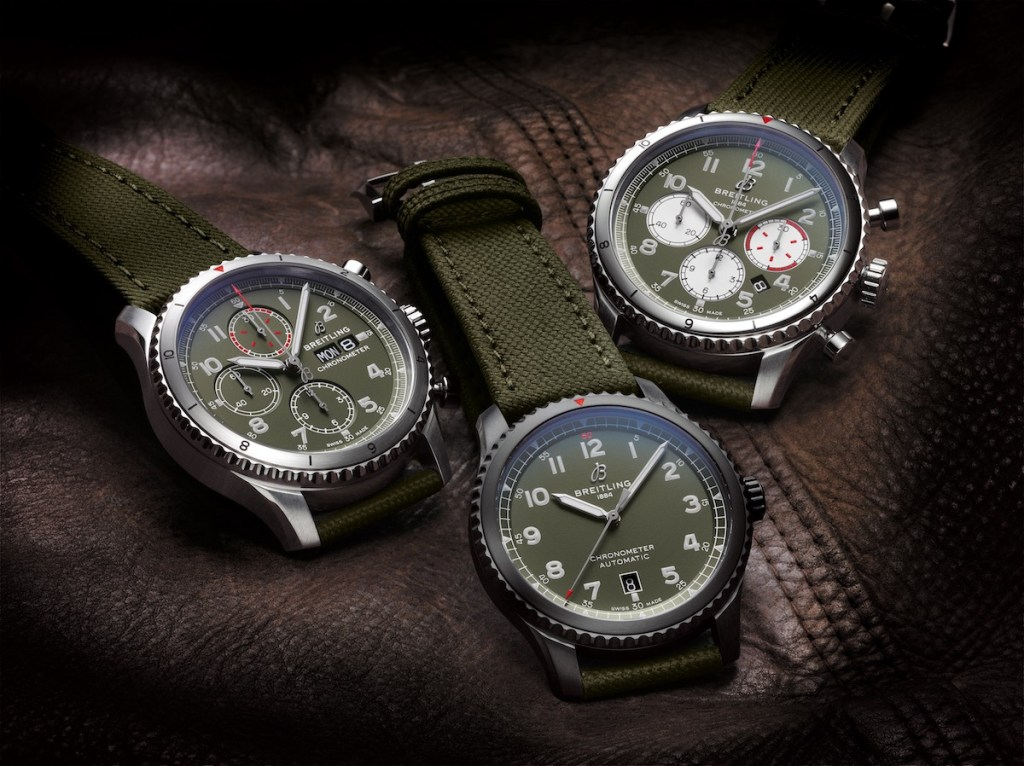 breitling pilot's watch watches new swiss watch manufacturer aviation chronograph chronographs automatic stainless-steel