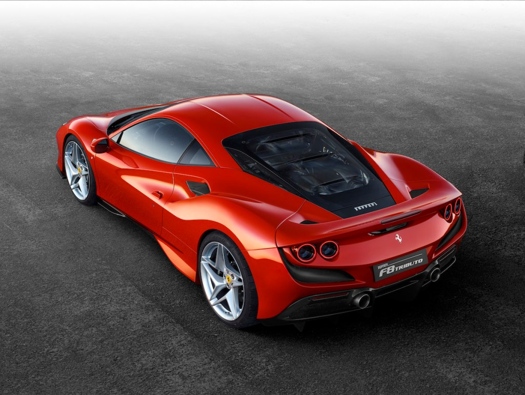 ferrari f8 tributo new model unique turbo turbo-charged models sideview